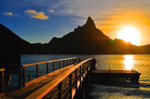 ボラボラ島 オテマヌ山 夕焼け
