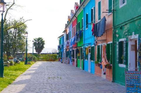 ブラーノ島 カラフルな街並み