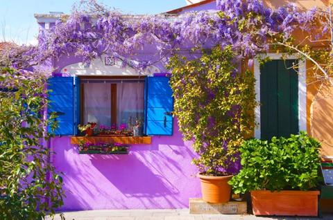 ブラーノ島 個性的な家