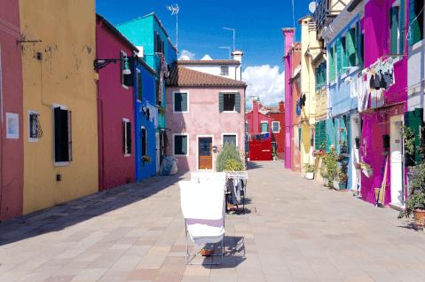ブラーノ島 カラフルな街並み1