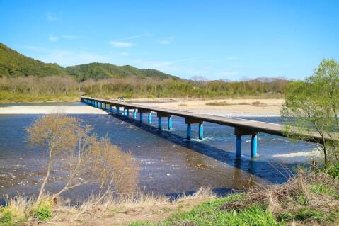 日本 絶景 高知 佐田 沈下橋