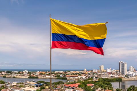 国旗 コロンビア