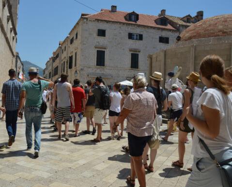 pratua クロアチア ドブロブニク プラツァ通り 観光