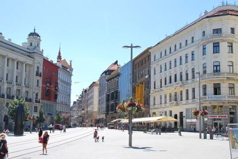 brno チェコ ブルノ 自由広場