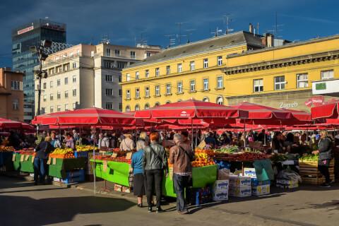 Dolac Market ドラツ市場 クロアチア ザグレブ