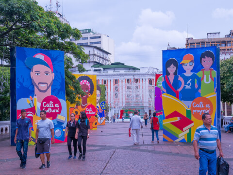 サンティアゴ・デ・カリ コロンビア 街並み