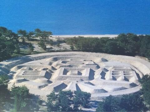 日本 絶景 香川 銭形砂絵