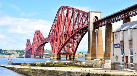スコットランド エディンバラ 観光 フォース鉄橋