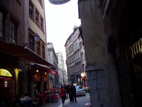 リヨン旧市街の中