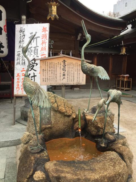 霊泉鶴の井戸 櫛田神社