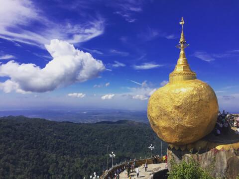 ミャンマー 絶景 ゴールデンロック
