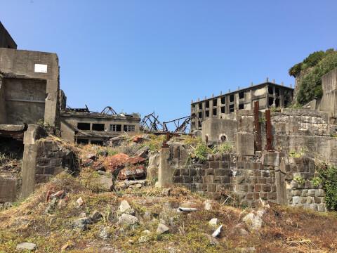 日本 絶景 長崎 軍艦島