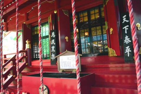 箱根神社本殿アップ