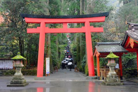 箱根神社階段下の鳥居
