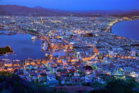 日本 絶景 函館山 夜景 日本三大夜景