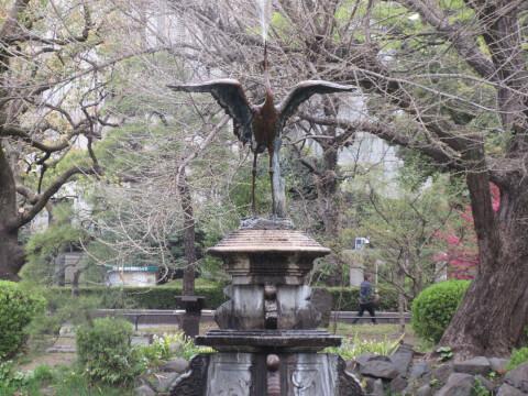 日比谷公園 鶴