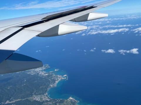 飛行機からの沖縄