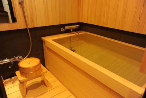 京都 旅館 宿泊 ひのき風呂 高瀬川別邸