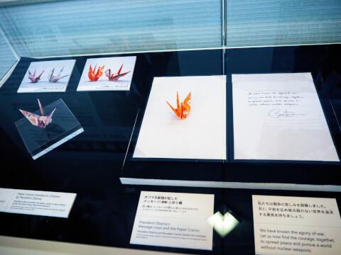 広島平和記念資料館 原爆ドーム オバマ大統領 折り鶴