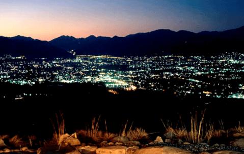 ほったらかし温泉夜景
