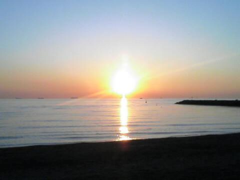 稲毛海浜公園夕日