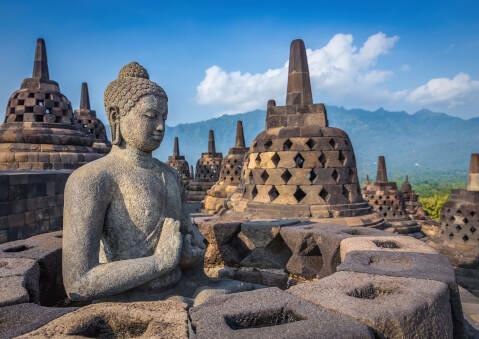 インドネシアのおすすめ観光スポット、ボロブドゥール寺院遺跡