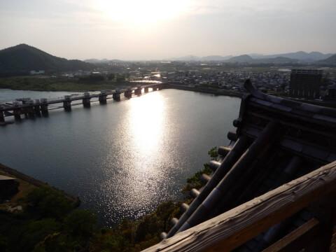 犬山城からの夕暮れ