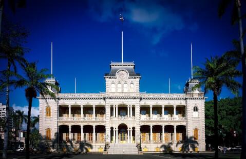 iolani ハワイ ホノルル イオラニ宮殿