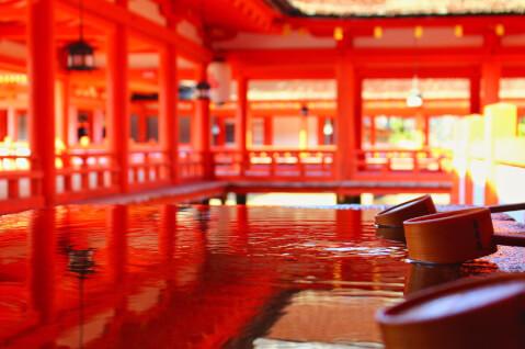 日本 絶景 広島 宮島 厳島神社 五重塔