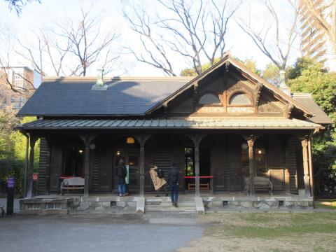 旧磐崎庭園の撞球場