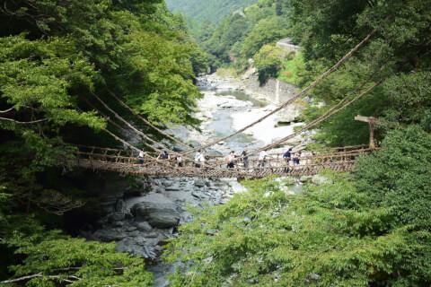 日本 絶景 徳島 祖谷渓 かずら橋