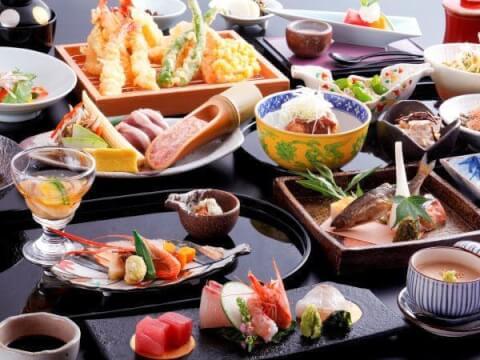 京都 旅館 宿泊 嵐山温泉 花伝抄 お食事