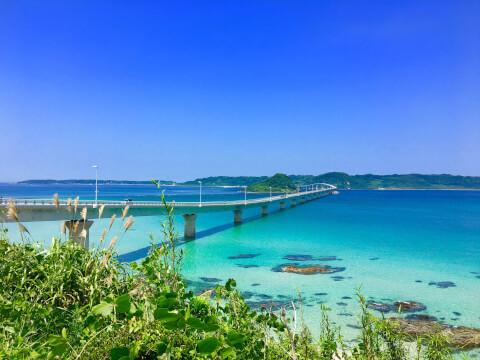 日本 絶景  山口 角島大橋