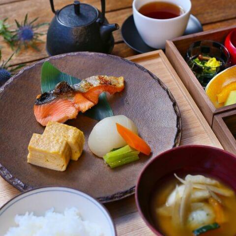 星のや 軽井沢 朝食 和食