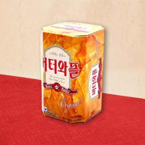 韓国 お土産 おすすめ お菓子 人気 クラウン バターワッフル