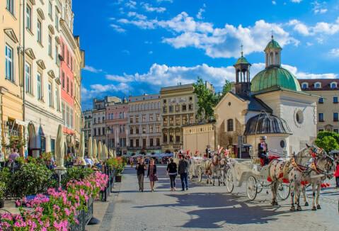 krakow ポーランド クラクフ 観光 街並み