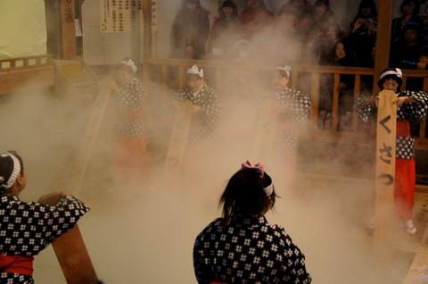 草津温泉:湯もみ