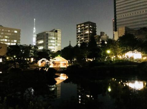 旧安田庭園_夜景