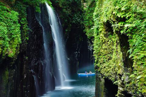 日本 絶景 宮崎 高千穂峡 真名井の滝