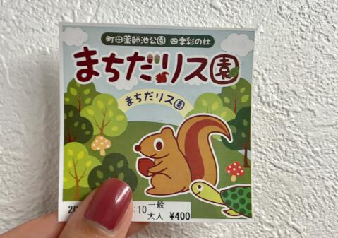 町田リス園_チケット