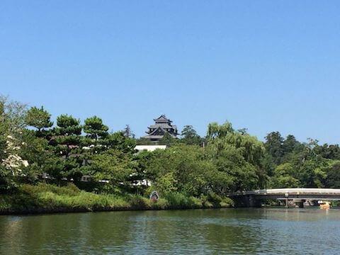 堀川と松江城