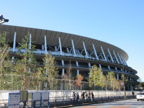 千駄ヶ谷の観光スポット「新国立競技場」