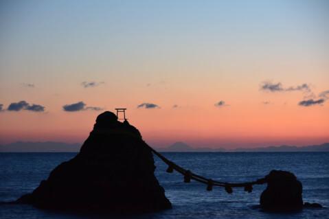 日本 絶景 三重 夫婦岩 伊勢