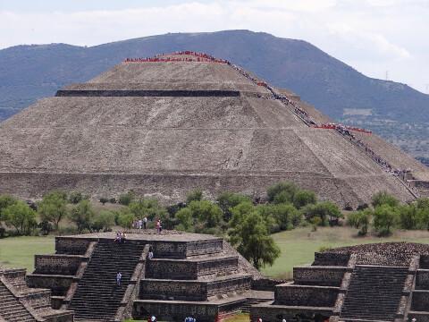 メキシコ メキシコシティ テオティワカン遺跡
