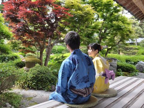 三朝温泉 日本庭園