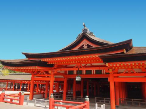 宮島のおすすめ観光スポット、厳島神社本殿