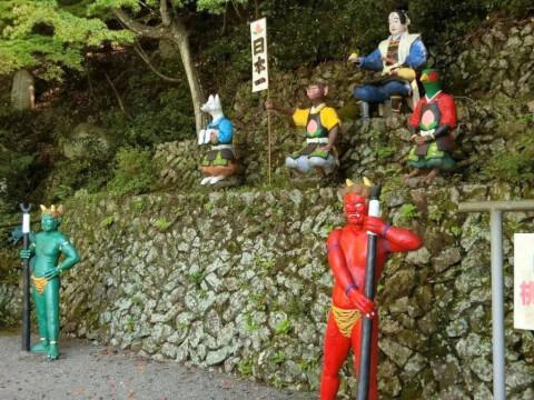 桃太郎たちの人形