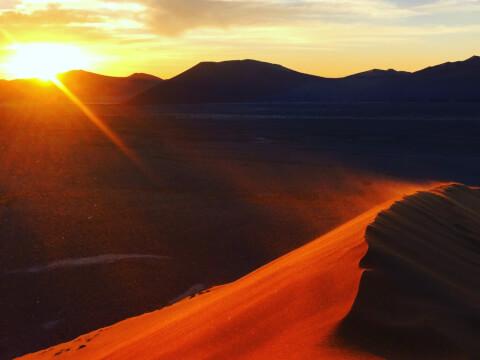 ナミブ砂漠 夕焼け ナミビア