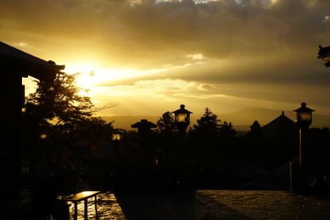 奈良の夕暮れ