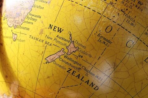 ニュージーランド 地球儀